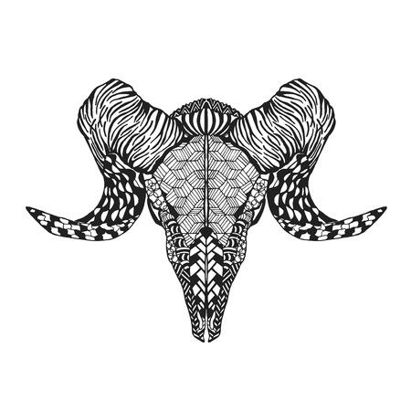 tribales: cordero estilizada cráneo ovejas Animales