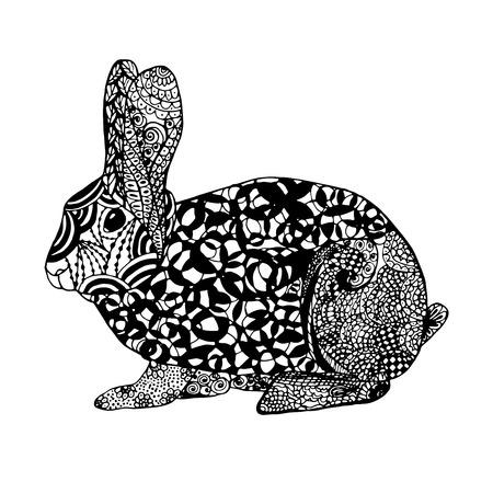silhouette lapin: lapin stylisé.