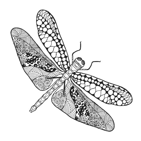 adult tattoo: Dragonfly