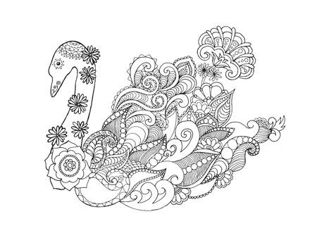 totem: Swan Illustration