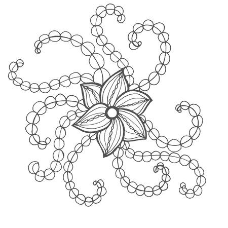 oiseau dessin: Fantaisie Page fleurs de coloration. Tiré par la main doodle. Floral vecteur motif illustration. Africaine, indien, totem, tribal, conception zentangle. Dessinez pour coloriage, tatouage, affiche, impression, t-shirt Illustration