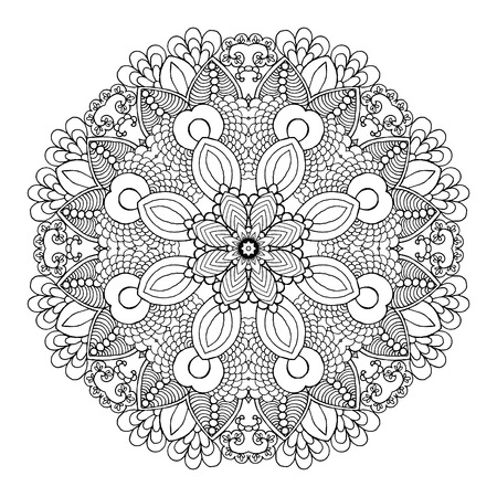 Beautiful floral mandala. Ethnic abstract decorative ornament. Hand drawn background. Islamic, arabic, indian,  , tribal, african motif. Background texture for your design and business.
