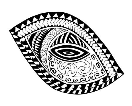 Maori style tattoo design