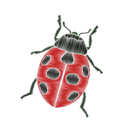 Ladybug embroidery
