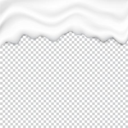 Liquid creamy white texture