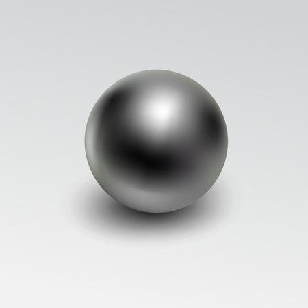 白い背景に分離されたクロム金属ボール現実的。 写真素材 - 102577491