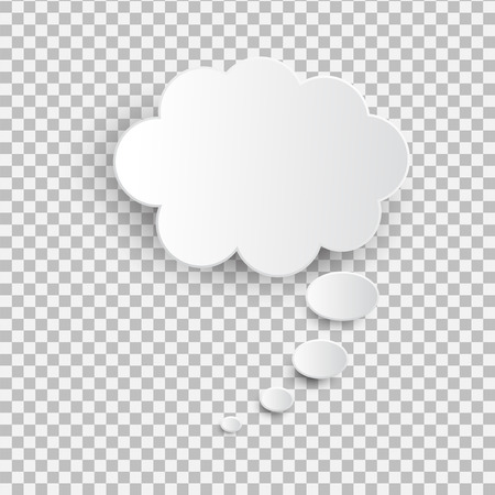 White blank speech bubble  on the transparent background.