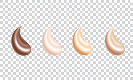 Realistic skin foundation liquid creamy texture