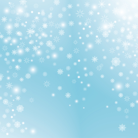 Snowflake transparent decoration effect.