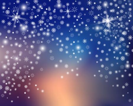 Snowflake transparent decoration effect.
