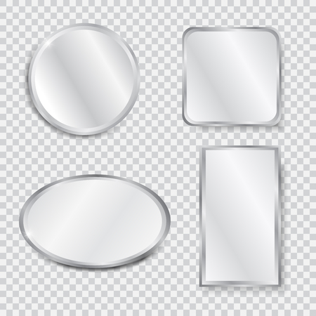 Set of realistic geometrical mirrors