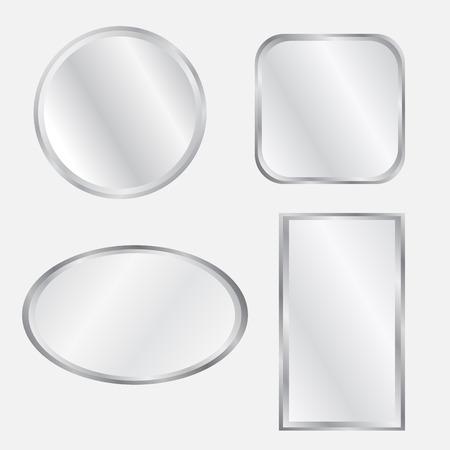 Set of realistic geometrical mirrors