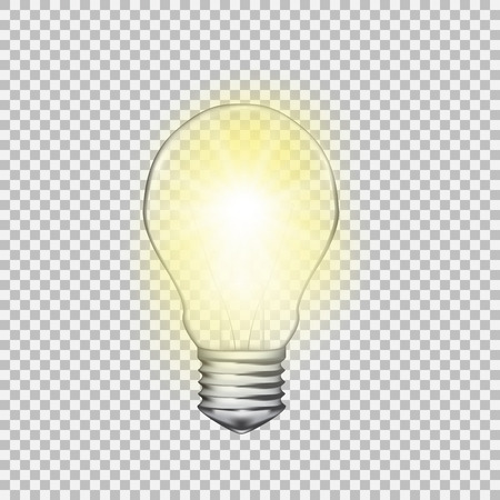 Realistic transparent light bulb