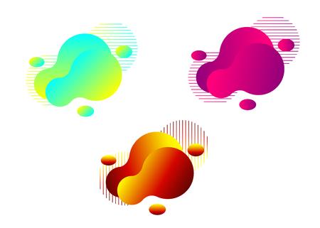 Set of modern liquid abstract element graphic design