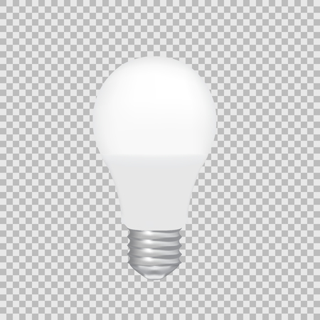 Realistic transparent LED bulb