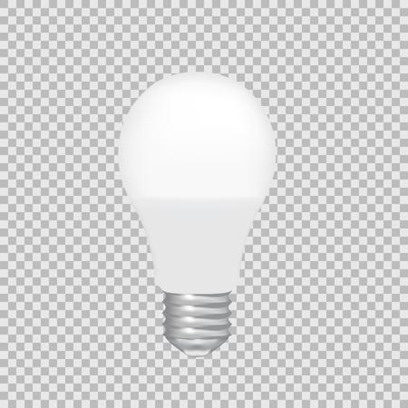 Realistic transparent LED bulb