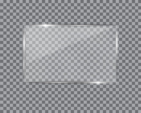 Glass plate on transparent background.