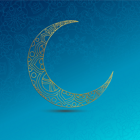 Ramadan Kareem greeting design illustration. Illustration
