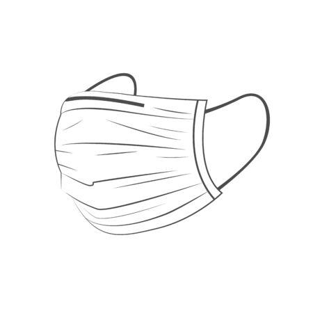Safety breathing white mask Corona Virus