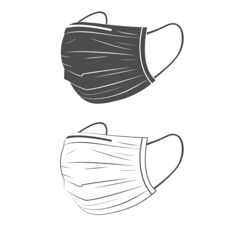 Safety black and white breathing masks.