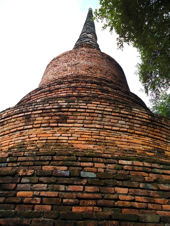 Ayuthaya pagoda Stock Photo