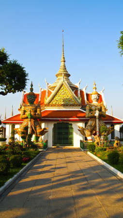 Giant stutue Arunrajwararam, Thailand Stock Photo