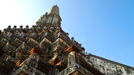 Ancient temple at Arunrajwararam Temple Stock Photo