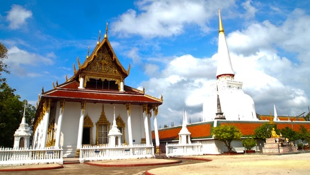Grand temple and Grand pagoda Stock Photo