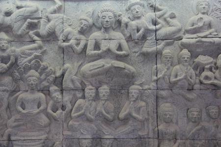 Buddha stone relief photo