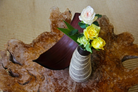 Roses in the vase Stock Photo