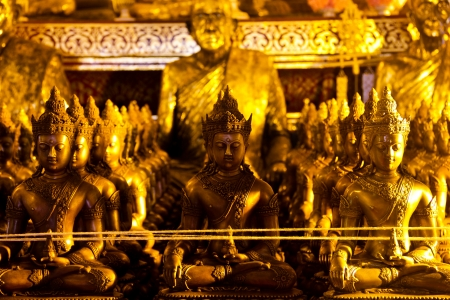 Golden buddha which belong to Thai tempel  Thai people can use this ornament because it s a public item