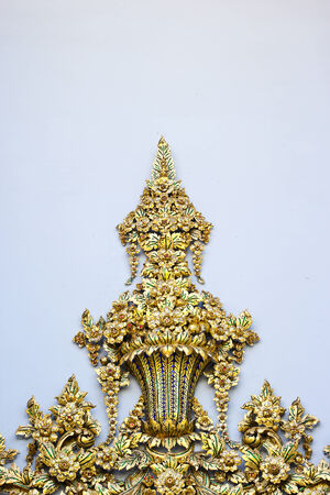 Thai ornament on the white background