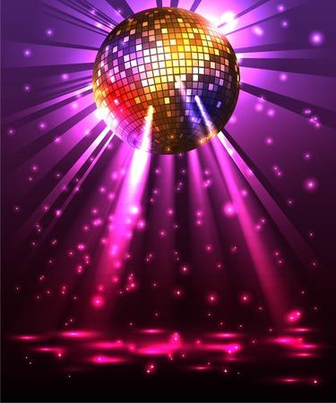 Bola chispeante del disco. Fiesta nocturna Foto de archivo - 67570559