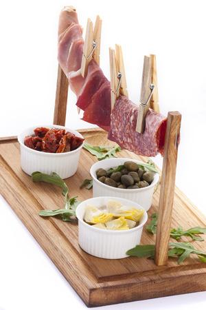 carnes y verduras: grupo de carne y verduras Foto de archivo