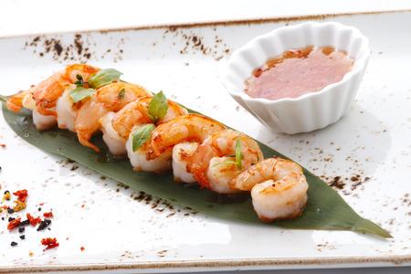 fried shrimps Standard-Bild