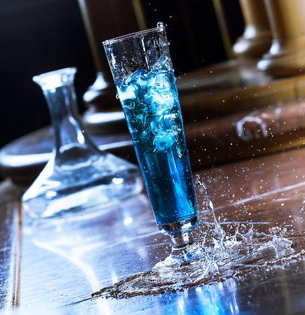 blue drink Standard-Bild