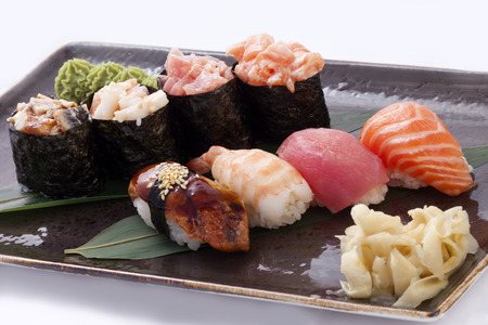 Assorted sushi Japanese classic Standard-Bild
