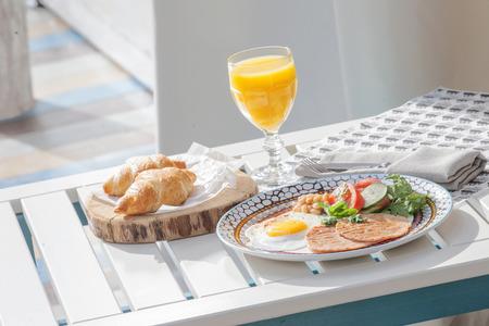 Essen in den Morgen Lizenzfreie Bilder