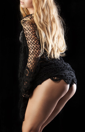 beautiful ass on a black background