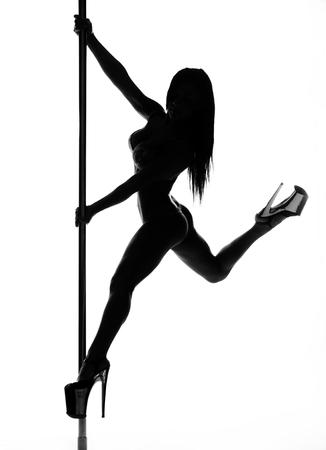 Pole Dance Frau Silhouette