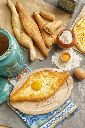 Caucasian kitchen, Bakery products. Banco de Imagens