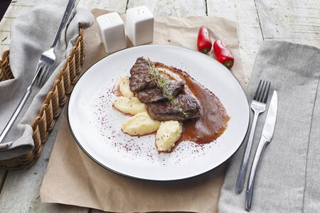 Beef Medallion or Mignon with Mashed Potato