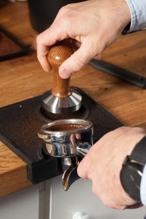 Making coffee from coffee bean