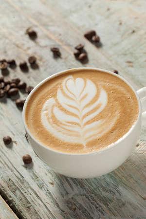 A cup of cappuccino Standard-Bild