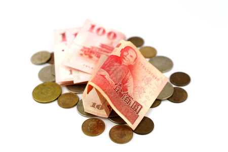 banknote: Taiwan Banknote and Coin Stock Photo