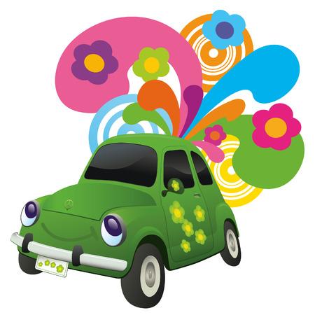 Ecological car Vector