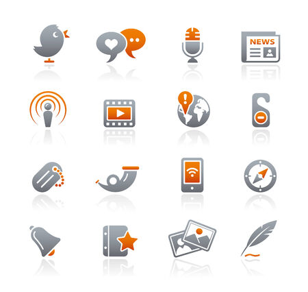 graphite: Blog & New Media icons  Graphite Series