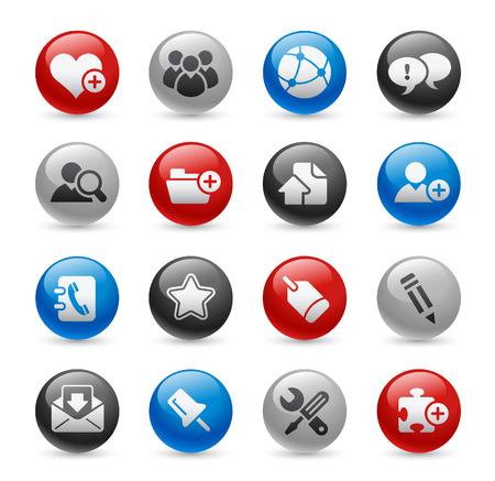 Internet & Blog Buttons // Gel Pro Series Stock Vector - 6624988
