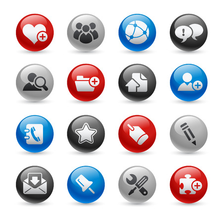 luggage pieces: Internet & Blog Buttons  Gel Pro Series Illustration