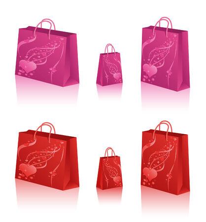 Love Shopping Bags Vector